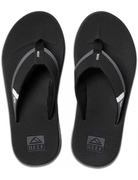 Reef Fanning Low Flip Flops in Black/White
