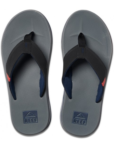 Reef Fanning Low Flip Flops in Grey/Black/Red