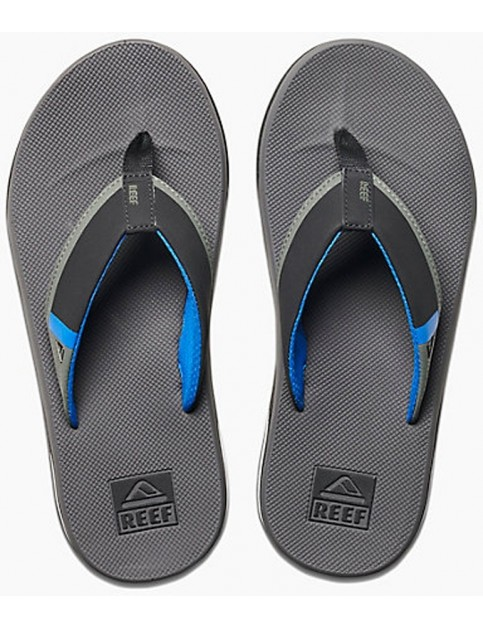 Reef Fanning Low Flip Flops in Grey/Blue