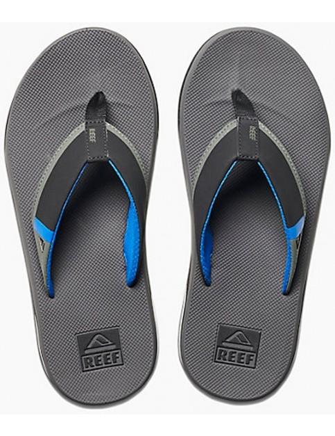Reef Fanning Low Flip Flops in Grey/Blue