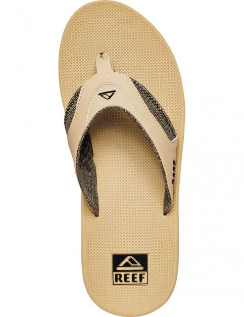 Black/Tan Reef Fanning Prints Sport Sandals