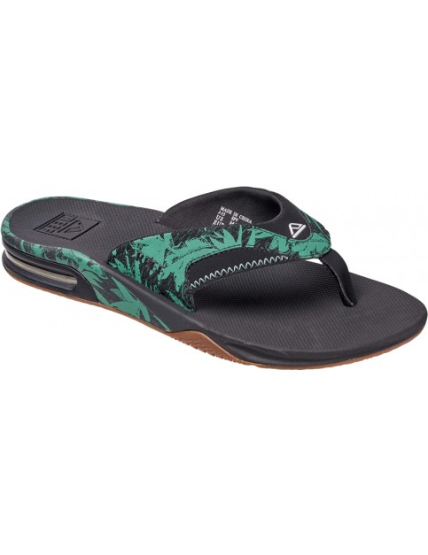 Reef Fanning Prints Sport Sandals in Green Botanical