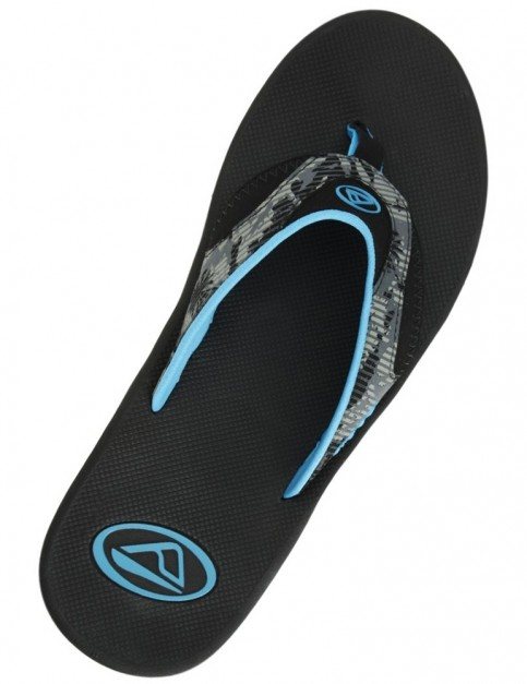 Reef Fanning Prints Sports Sandals in Palm Camo Grey