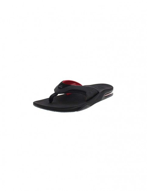 Reef Fanning Sandals in All Black/Red