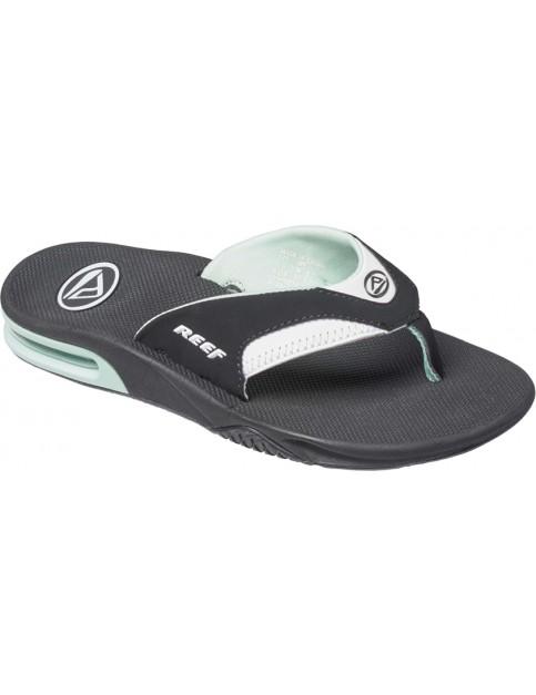 Black/Mint Reef Fanning Sport Sandals