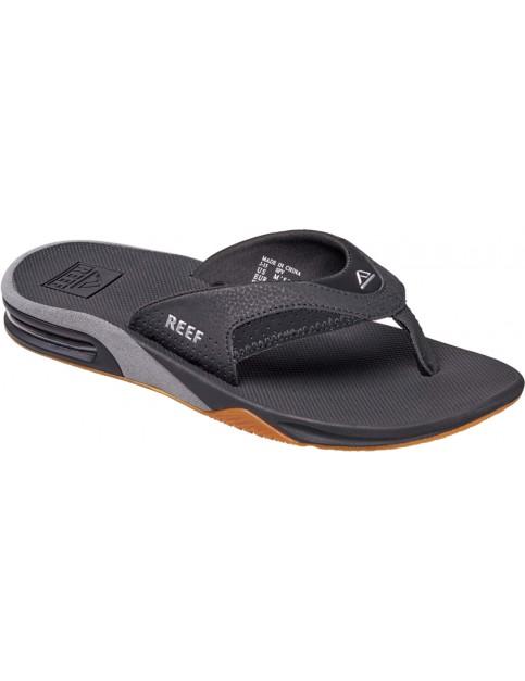 Black/Silver 2 Reef Fanning Sport Sandals