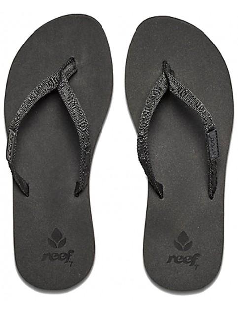 Reef Ginger Flip Flops in Black/Black