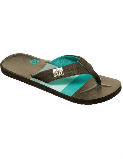 Reef HT Prints Flip Flops in Brown/Blue/Multi