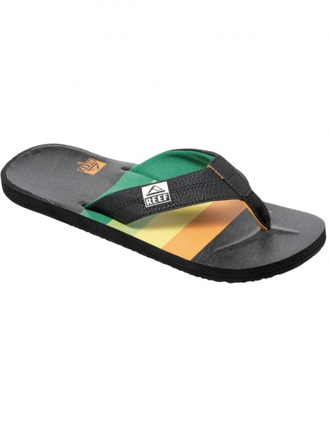 Reef HT Prints Flip Flops in Dark Rasta
