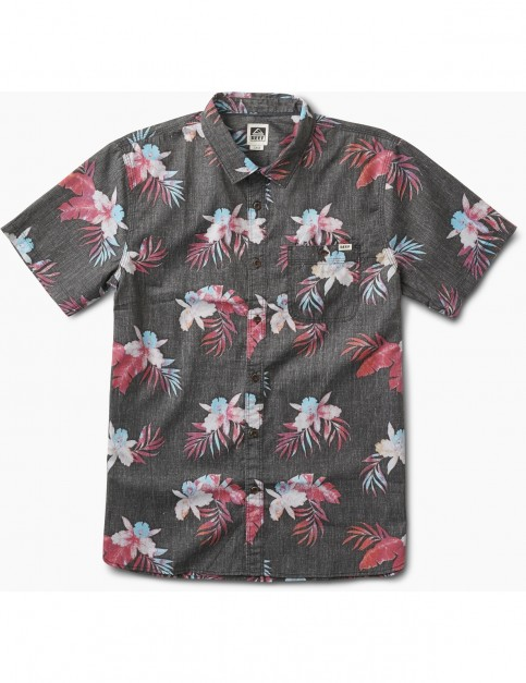 Reef Isle Short Sleeve Shirt in Black