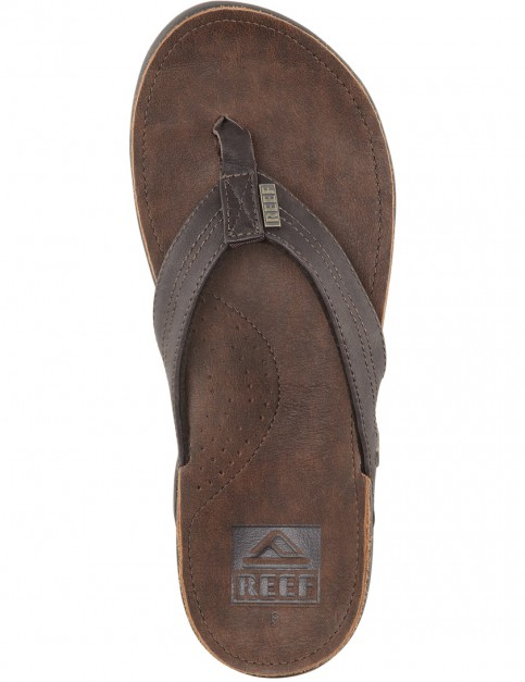 Reef J-Bay III Leather Sandals in Dark Brown