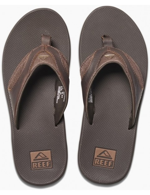 Reef Leather Fanning Leather Sandals in Brown
