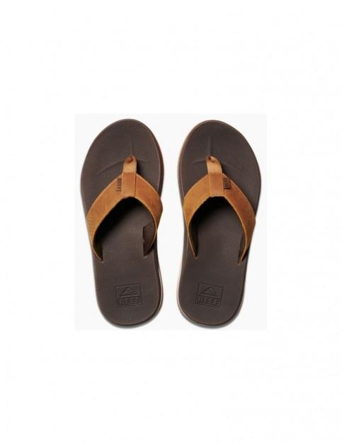 Reef Leather Fanning Low Leather Sandals in Brown