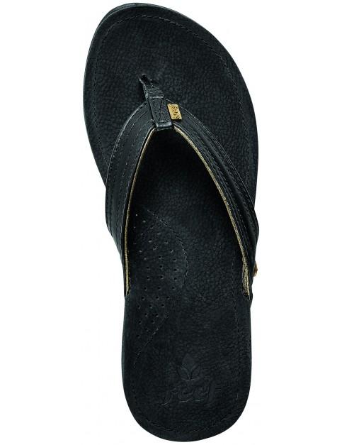 Reef Miss J-Bay Flip Flops in Black Gold