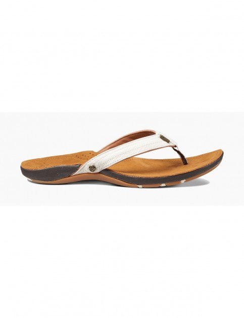 Reef Miss J-Bay Flip Flops in Tan/White