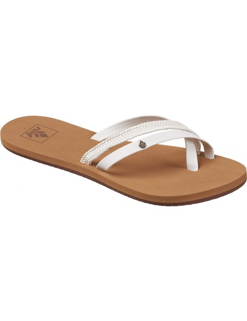 Reef O Contraire LX Faux Leather Sandals in White