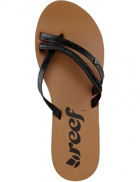 Reef O Contraire LX Faux Leather Sandals in Black