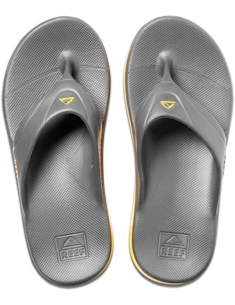 Reef One Flip Flops in Grey/Yellow
