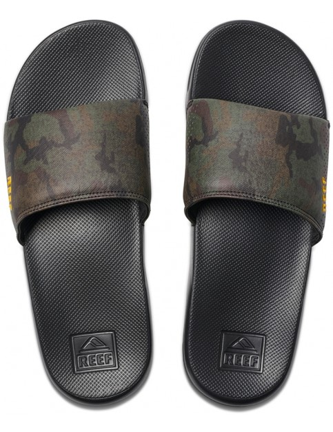 Reef One Slide Sliders in Green Camo