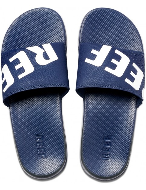Reef One Slide Sliders in Navy/White
