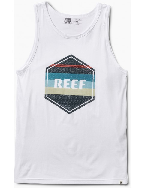 Reef Peeler Tank Sleeveless T-Shirt in White