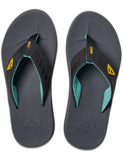 Reef Phantoms Flip Flops in Aqua/Yellow