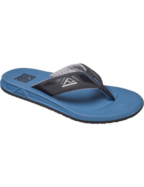 Black And Steel Blue Reef Phantoms Sport Sandals