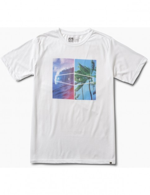 Reef Places Tee Short Sleeve T-Shirt in White
