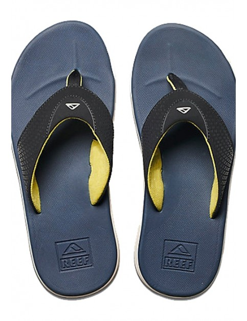 Reef Rover Flip Flops in Navy/Yellow