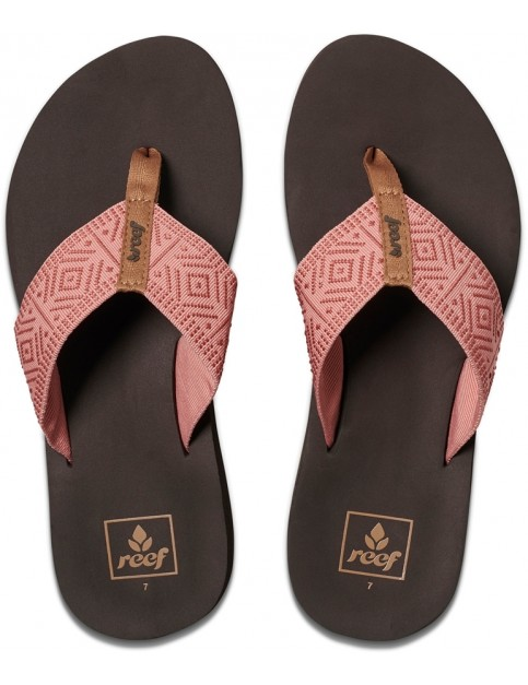 Reef Spring Woven Flip Flops in Dusty Coral