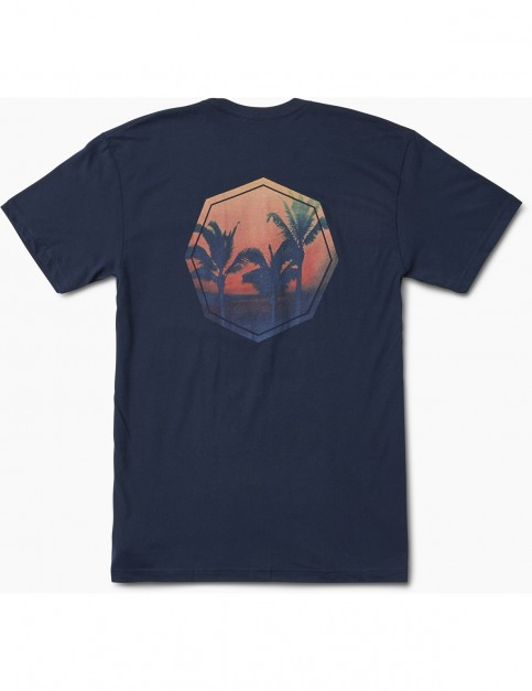 Reef Sunset Short Sleeve T-Shirt in Navy