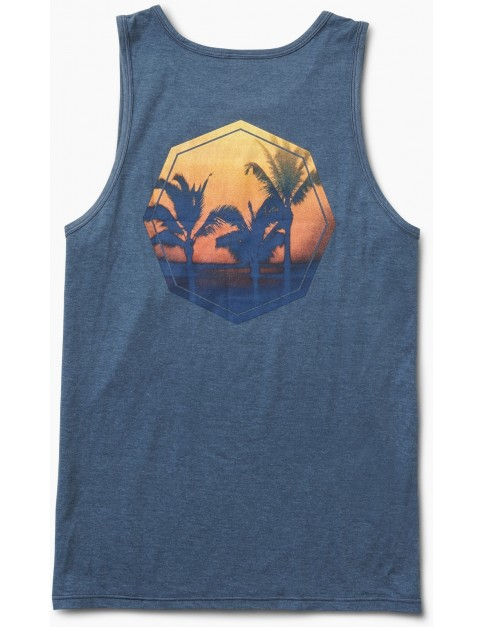Reef Sunset Tank Sleeveless T-Shirt in Blue Heather