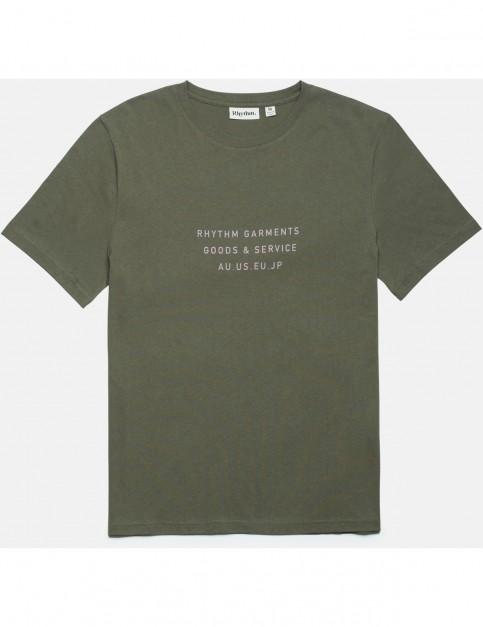Rhythm Base Short Sleeve T-Shirt in Olive
