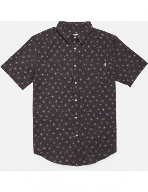 Rhythm Bengal Short Sleeve Shirt in Charcoal