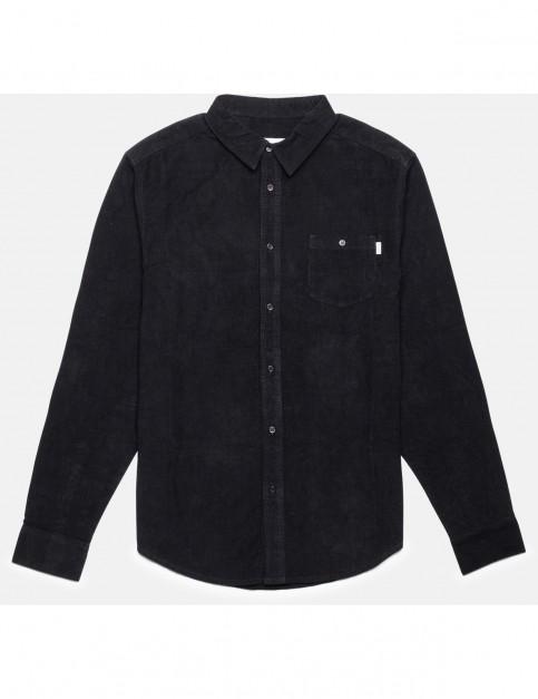 Rhythm Corduroy Long Sleeve Shirt in Black