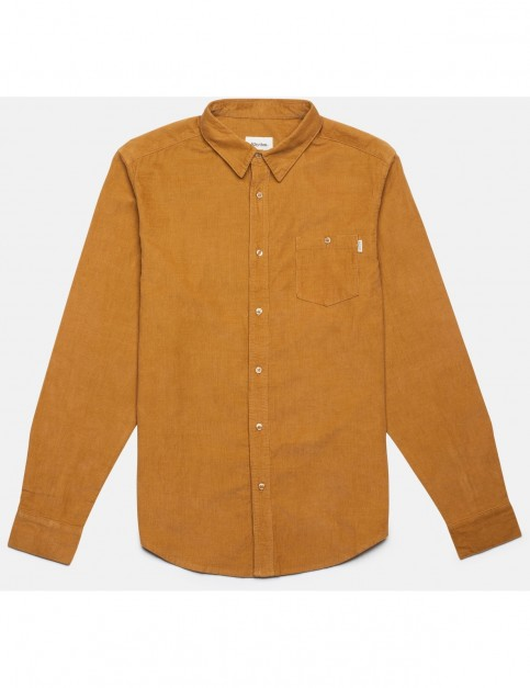 Rhythm Corduroy Long Sleeve Shirt in Turneric