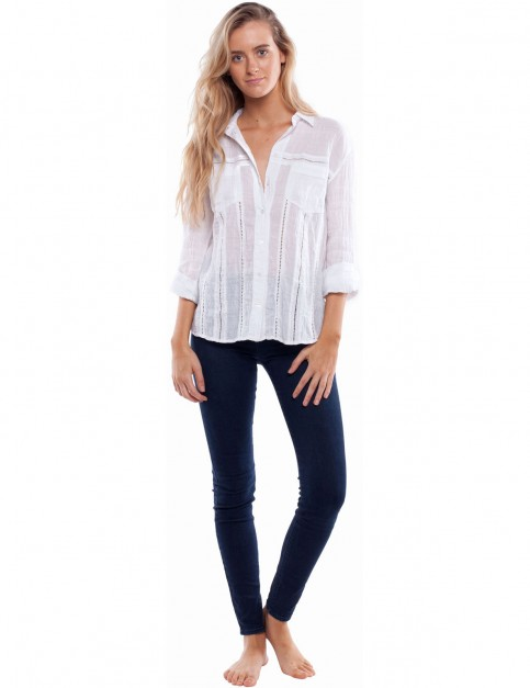 Rhythm Dahlia Long Sleeve Shirt in White