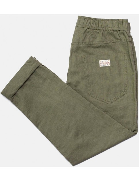 Rhythm Linen Beach Trousers in Olive