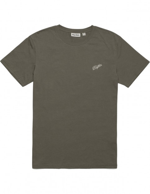 Rhythm Script T-Shirt Short Sleeve T-Shirt in Olive