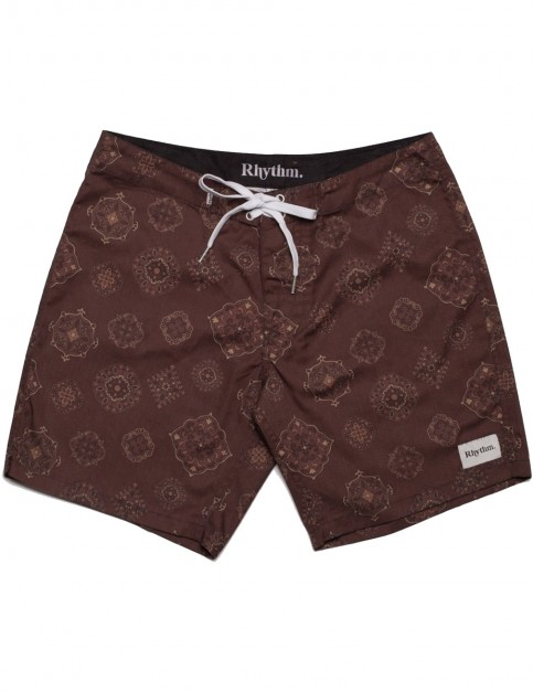 Rhythm Tallows Trunks Mid Length Boardshorts in Ochre