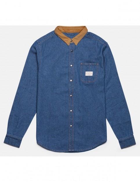 Rhythm Workwear Long Sleeve Shirt in Denim
