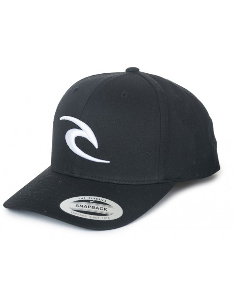 Rip Curl 3D Icon Snapback Cap in Black