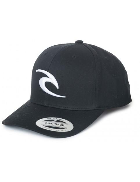 Rip Curl 3D Icon Snapback Cap in Black
