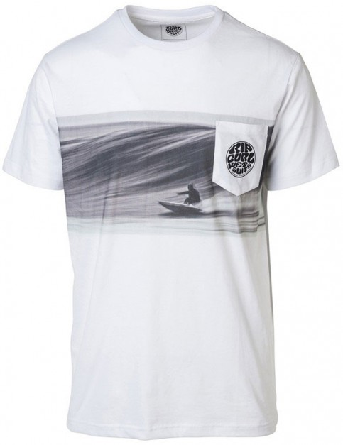 Rip Curl Action Original Short Sleeve T-Shirt in Optical White