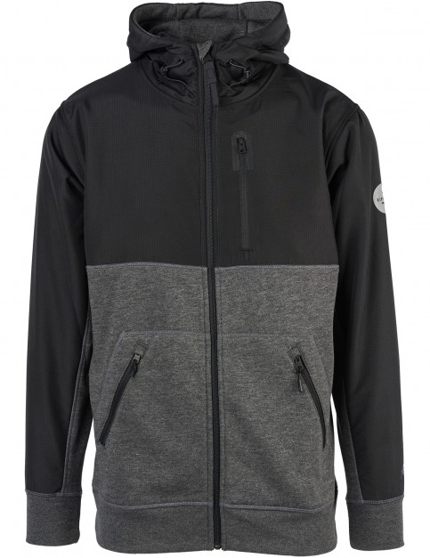 Rip Curl Aggrolite Anti-Series Full Zip Fleece in Dark Marle
