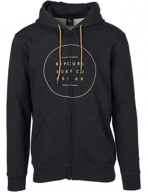 Rip Curl All Around Surf Zipped Hoody in Black Marled
