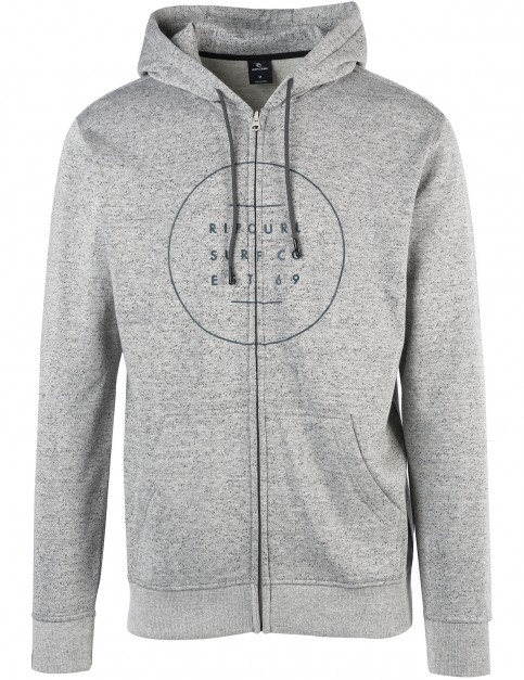 Rip Curl All Around Surf Zipped Hoody in Cement Marle