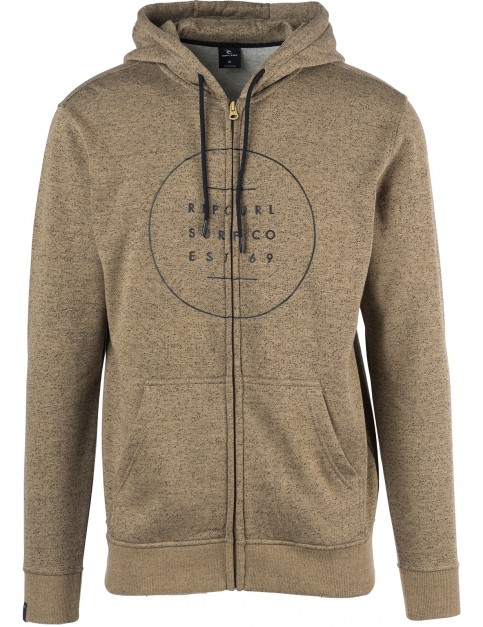 Rip Curl All Around Surf Zipped Hoody in Sepia Tint Marl