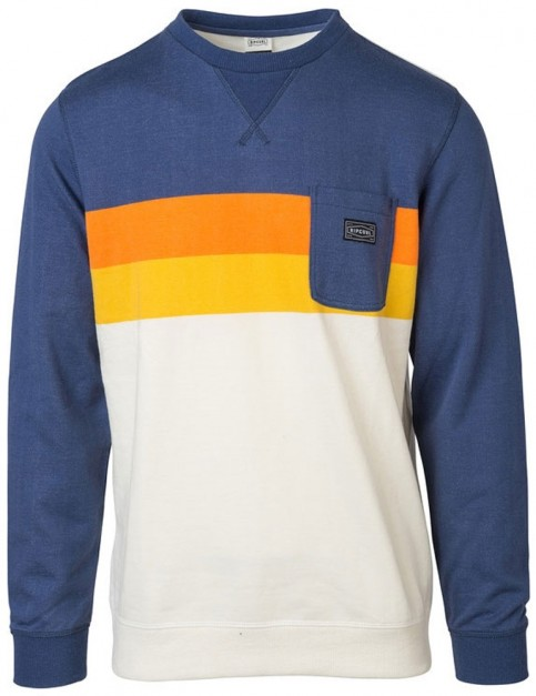 Rip Curl Authentic Crew Sweatshirt in Blue Indigo