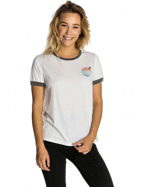 Rip Curl Backside Short Sleeve T-Shirt in White